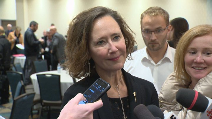 Saskatchewan Premier Brad Wall is standing behind his embattled Education Minister Bronwyn Eyre.