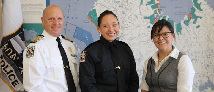 Constable Pamela Stevenson is one of three Inuit officers on the Kativik Regional Police Force. Of the three, she is the only woman. Sunday, Nov. 19, 2017.