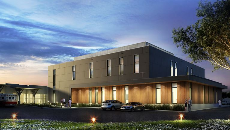 The new Peter C. and Elizabeth Toigo diagnostic services building is slated to open in 2019.