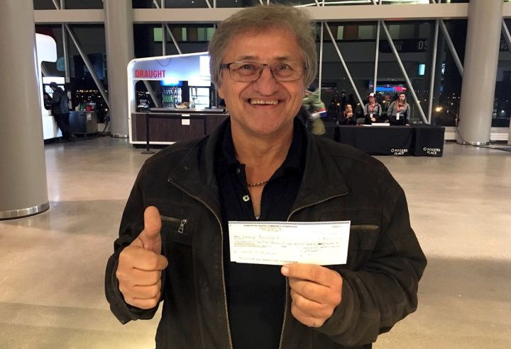 After the Oilers game on Nov. 28, 2017, the Edmonton Oilers Community Foundation tweeted George Boisvert would take home the 50/50 prize as he possessed the winning ticket: 156189C.