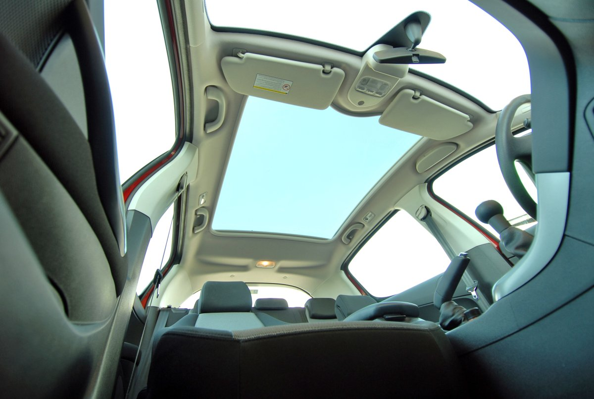 A panoramic car sunroof.