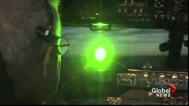 FILE - Wellington OPP were contacted by Toronto Pearson Airport on Saturday night after pilots reported a laser being pointed at their planes.