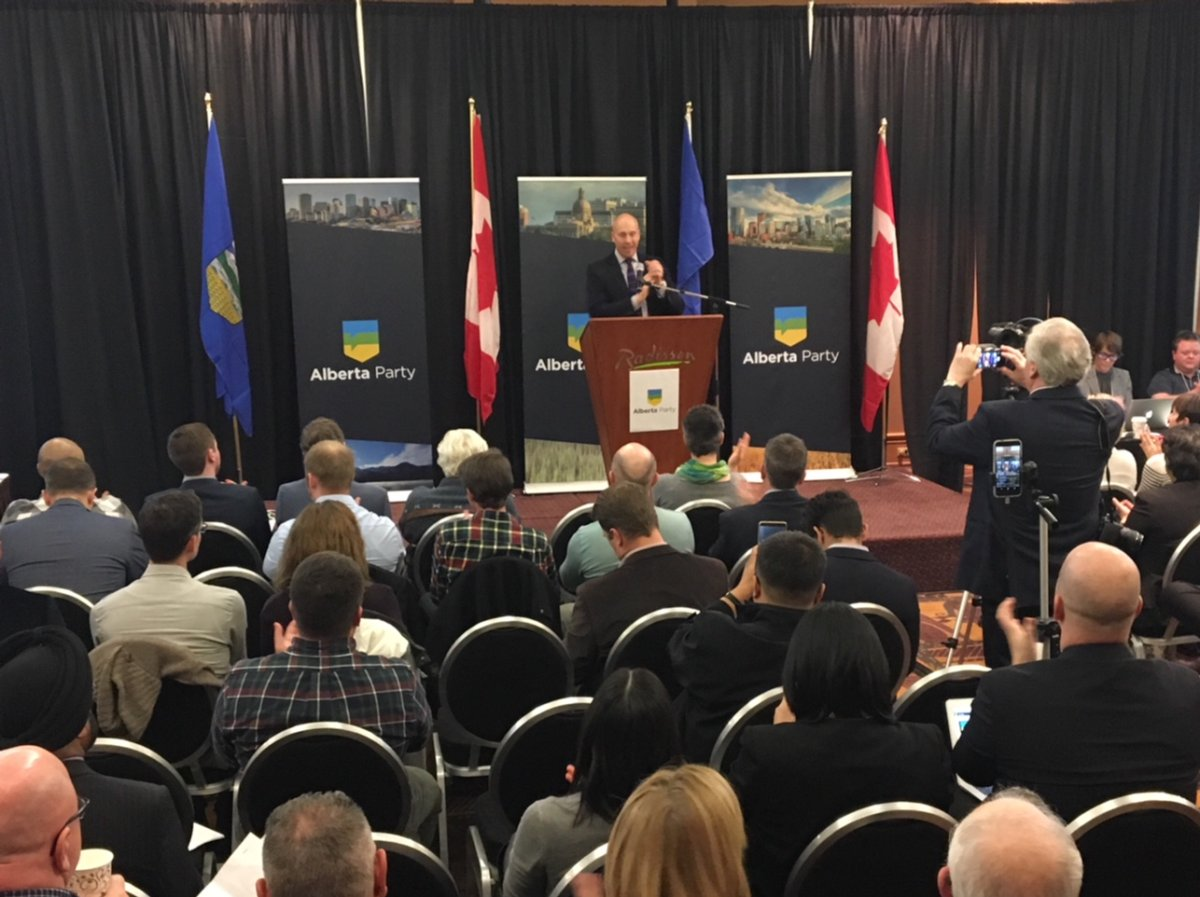 The Alberta Party said in a statement Wednesday that a leadership vote would be scheduled for Feb. 7, 2018.
