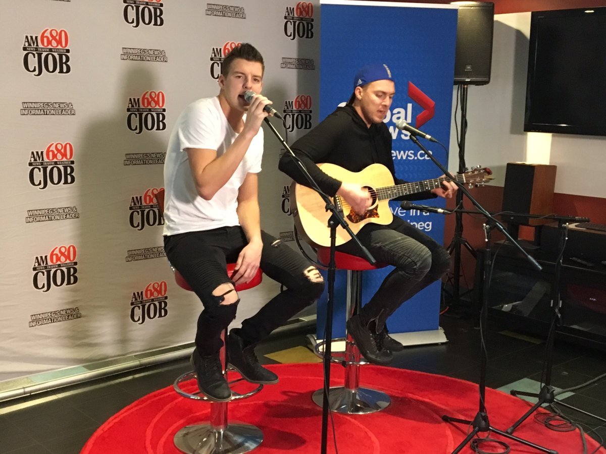 Manitoba country duo Petric performed at CJOB studios Nov. 7 after being named as the headline act for the half-time show at the CFL western semi-final.