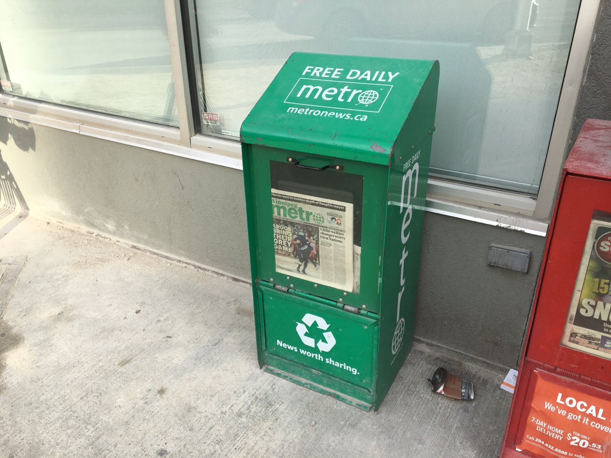 Metro Winnipeg will be sending out its last newspaper.