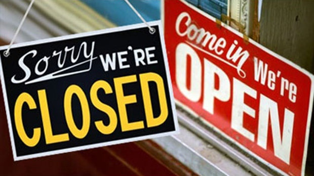 Find out what is open and closed.