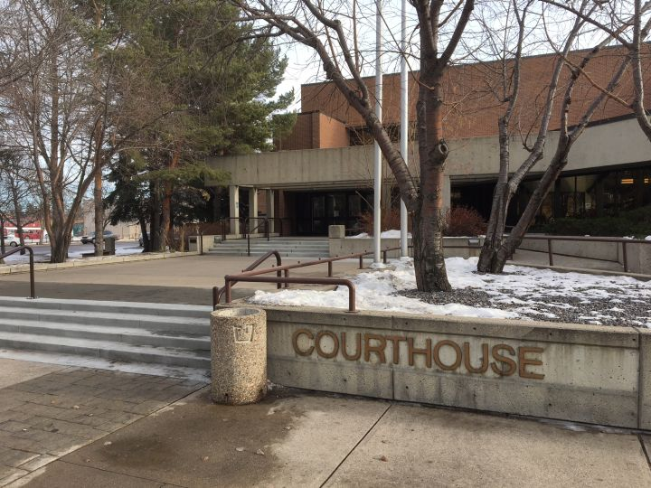A file photo of the courthouse in Red Deer, Alta.