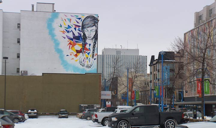 As part of Canada 150, SCYAP held a contest to choose a mural to be painted on the side of a building in downtown Saskatoon.