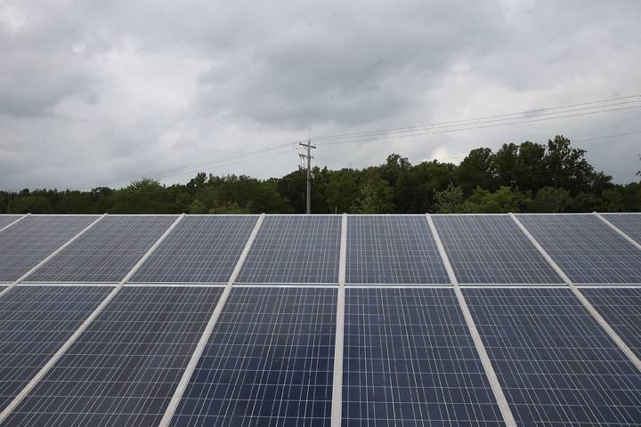 File photo of solar panels.