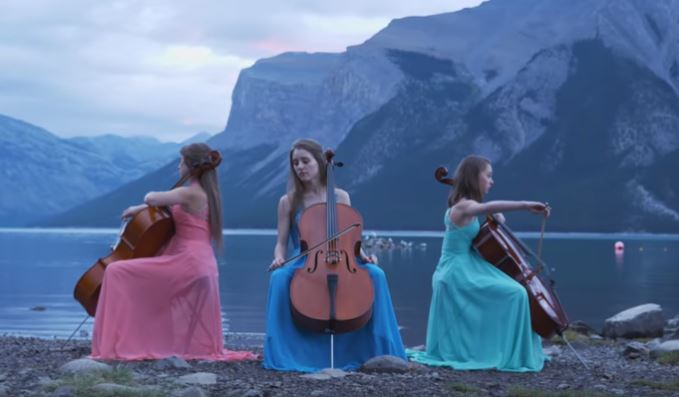 The Three Sisters Trio cello players dedicated their new song, Journey of Remembrance, to fallen soldiers.