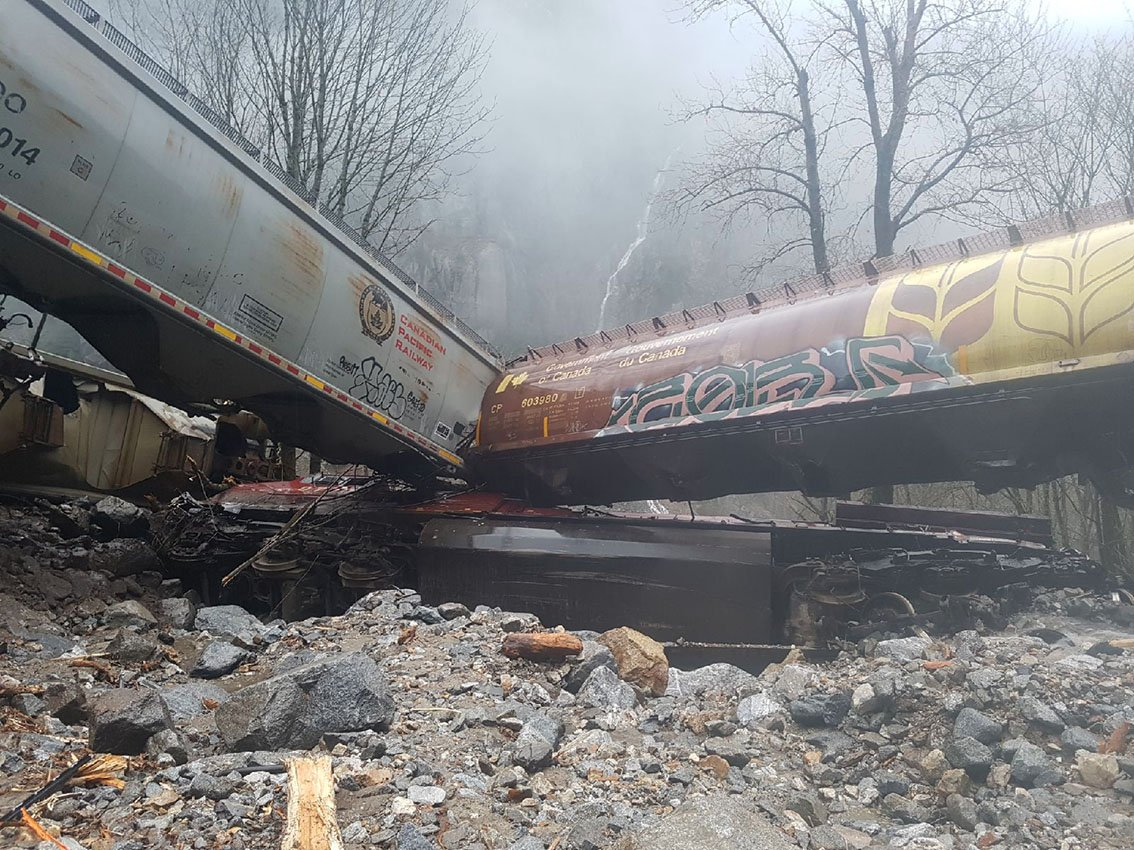 The train derailed near Hells Gate on Thursday. Crews are working to clear the site.