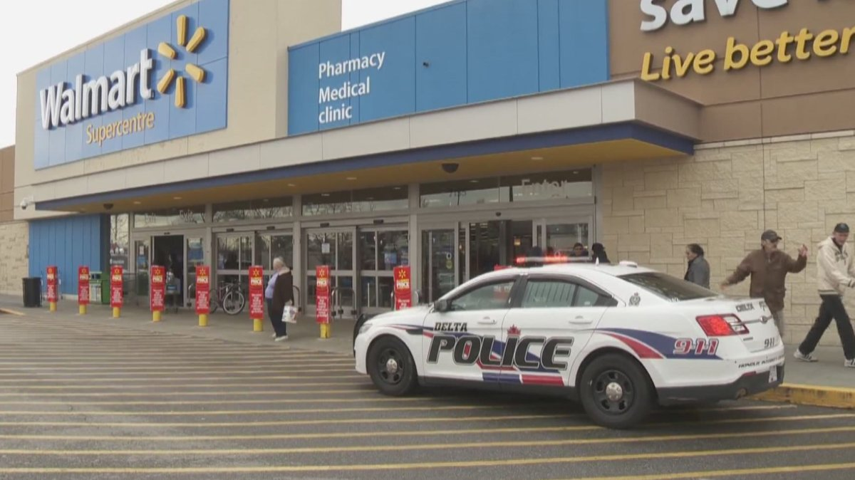 Delta Police are investigating after a stabbing at a Delta Walmart.