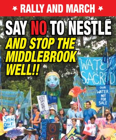 Rally against Nestle and water bottlers in Wellington County - image