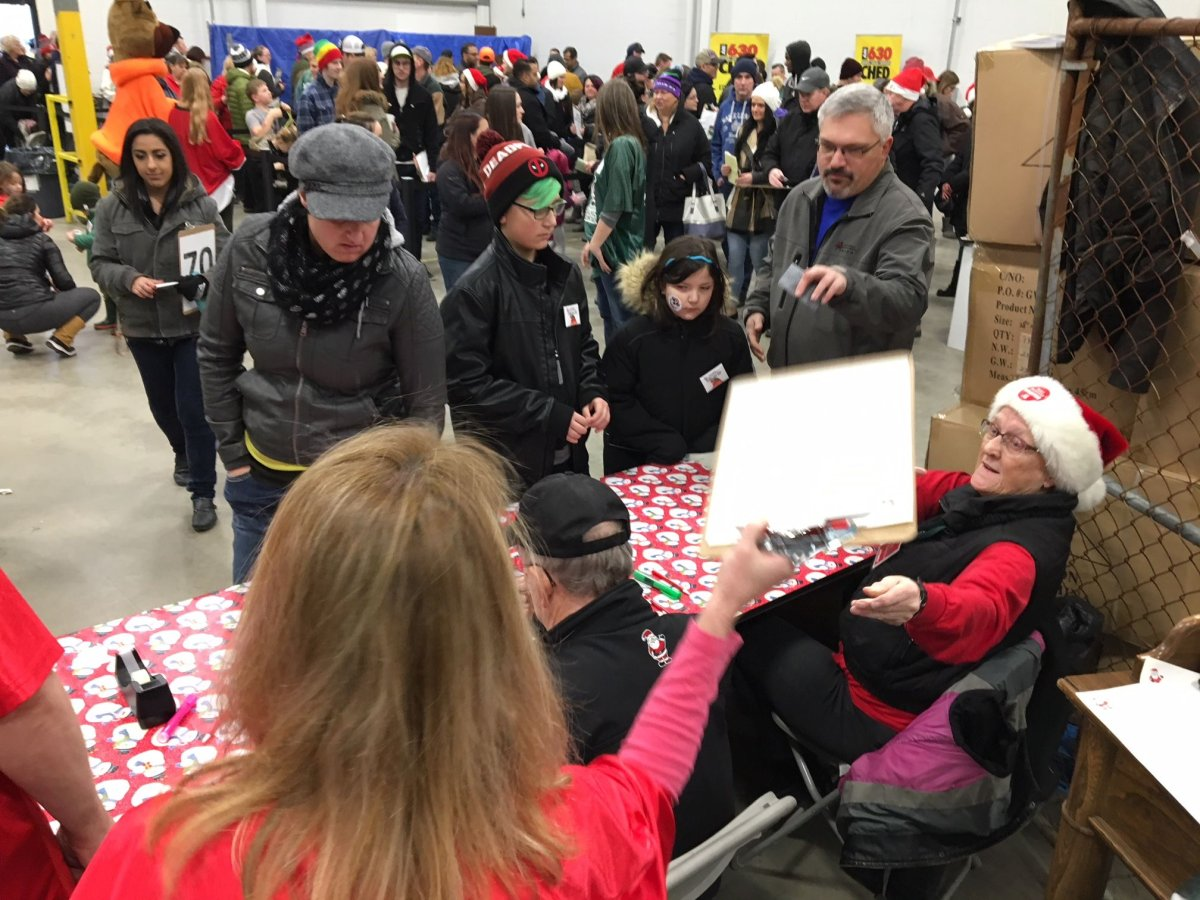 Delivery weekend wrapped up Sunday, Dec. 17, 2017 for 630 CHED Santas Anonymous.