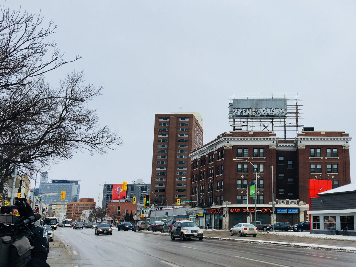 The derelict billboard on top of the Casa Loma building looks like it won't be changing any time soon.