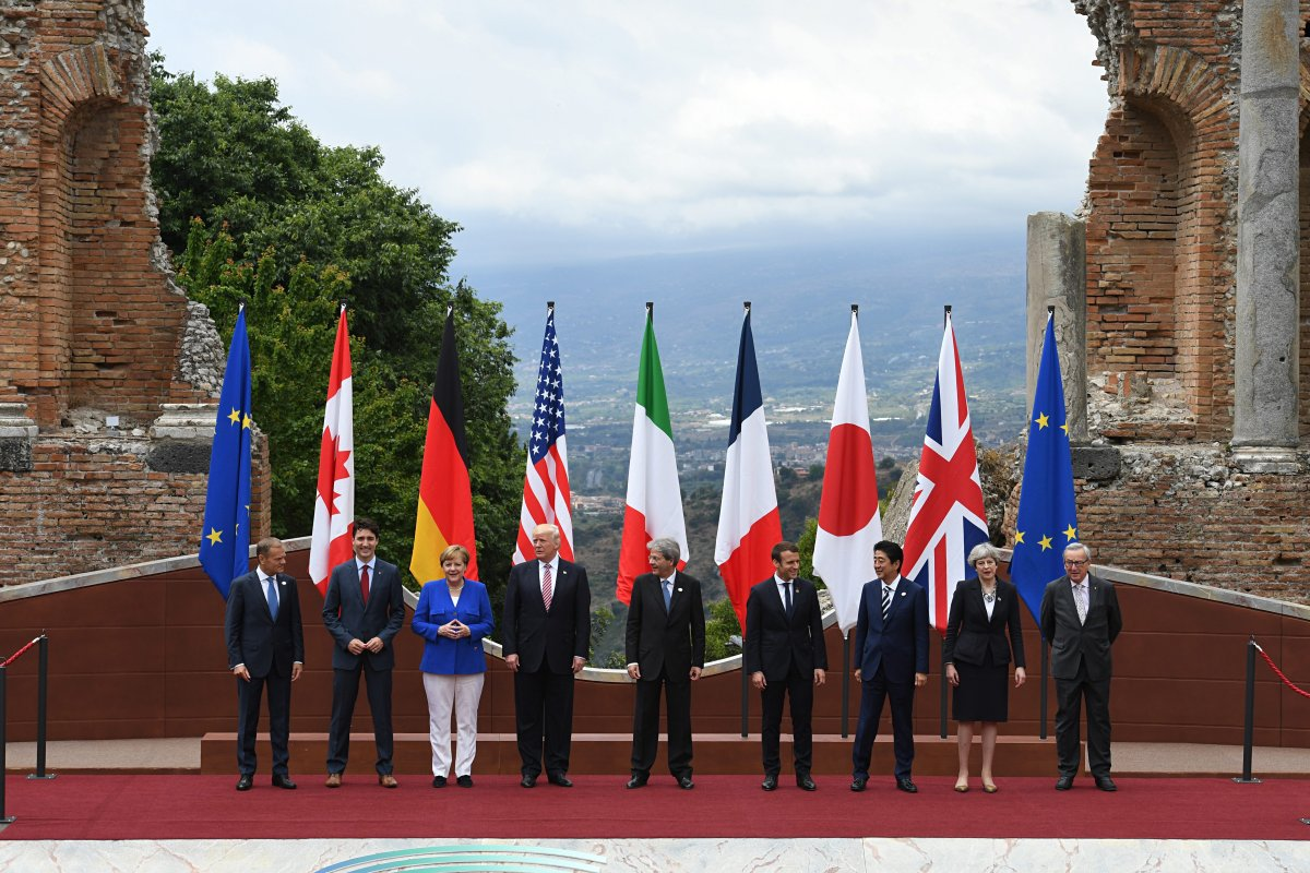 Leaders of the G7 meet in Italy at the 2017 summit.
