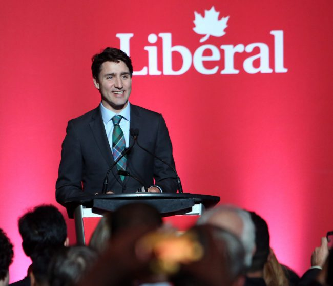 Prime Minister Justin Trudeau addresses participants at a Liberal Party donor appreciation event, in Ottawa, Tuesday, December 12, 2017.