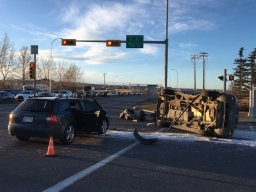 Continue reading: 5 people taken to hospital after northwest Calgary rollover
