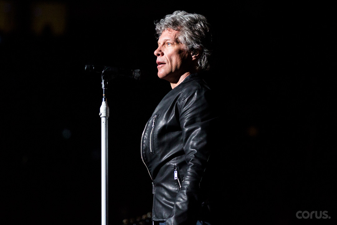 TORONTO, ON - APRIL 10: Bon Jovi performing live on tour promoting his new album 'This House Is Not For Sale' on April 10, 2017 at the Air Canada Centre in Toronto, Canada. (Photo by Adam Pulicicchio).