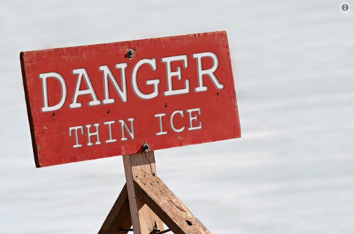 Prince Edward County OPP are asking residents to stay off the ice after a vehicle fell through in the Ameliasburgh Ward this weekend.