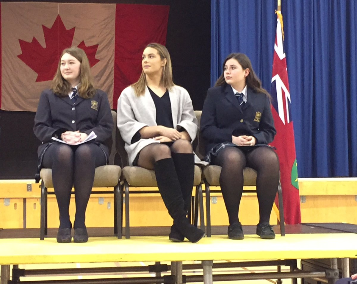 Canadian Olympic champion Penny Oleksiak received the National Leadership Award in Guelph on Tuesday.