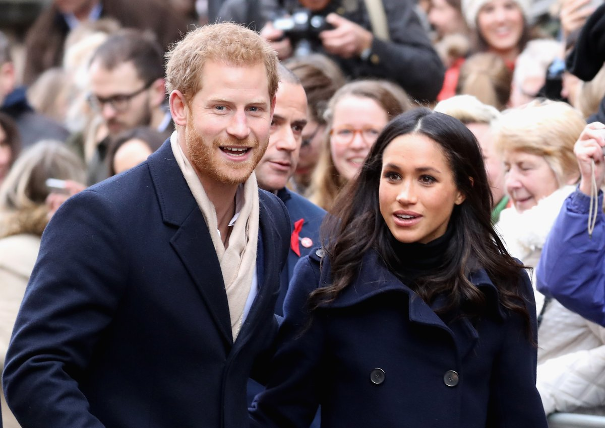 Prince Harry and Meghan Markle attends the Terrance Higgins Trust World AIDS Day charity fair at Nottingham Contemporary on December 1, 2017 in Nottingham, England.