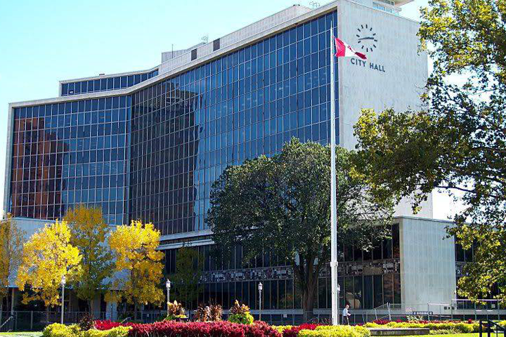 Hamilton City Hall is shown in a file photo.