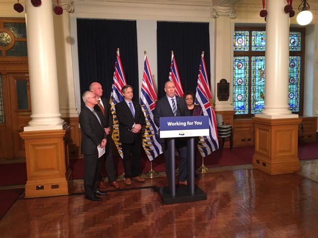 B.C. Premier John Horgan announced an independent review of 2017's fire and flooding season.