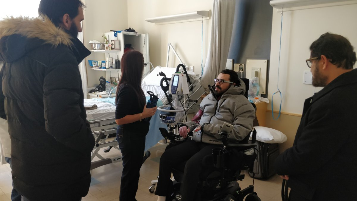 Aymen Derbali is confined to a wheelchair after being shot seven times during the Quebec City mosque shooting.