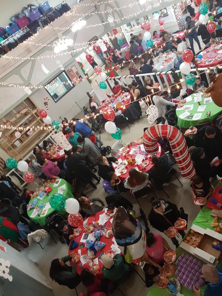 The Mustard Seed in Edmonton holds its annual Kids Christmas Party, Saturday, Dec. 9, 2017.