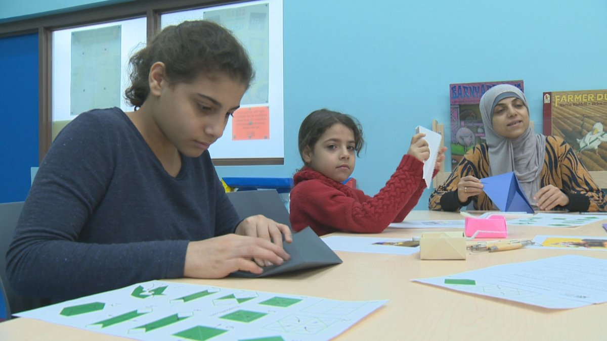 A program at Regina Public Library is offering new immigrants a chance to learn through the language of art.