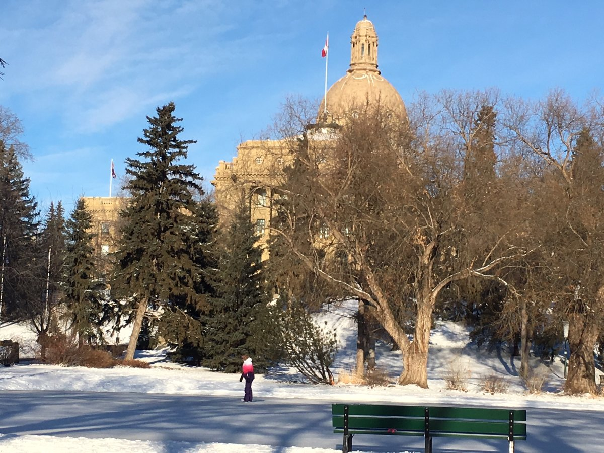 The Alberta legislature on Dec. 26, 2017.