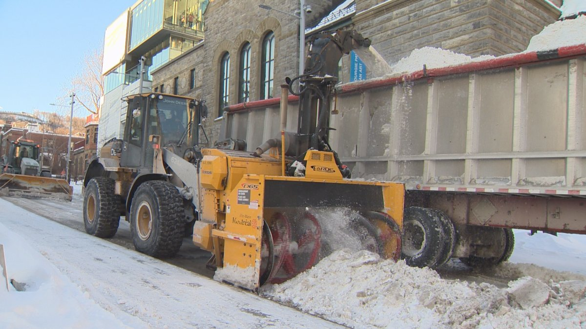 A file photo of snow operations in Montreal.