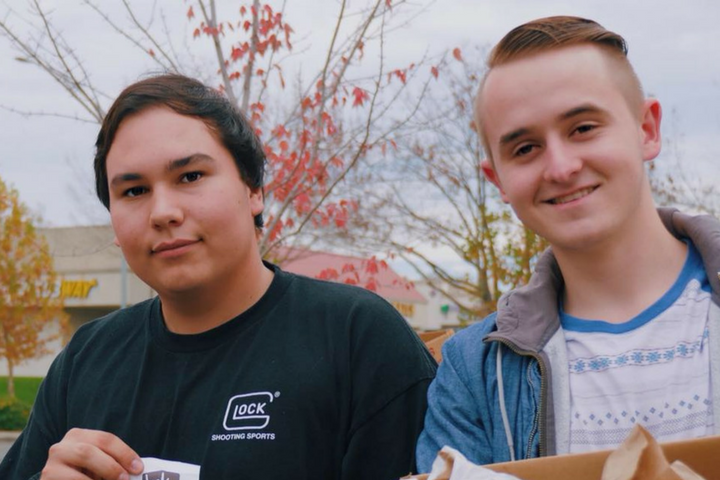 Chris Betancourt (left) and Dillon Hill (right) are completing a bucket list together.