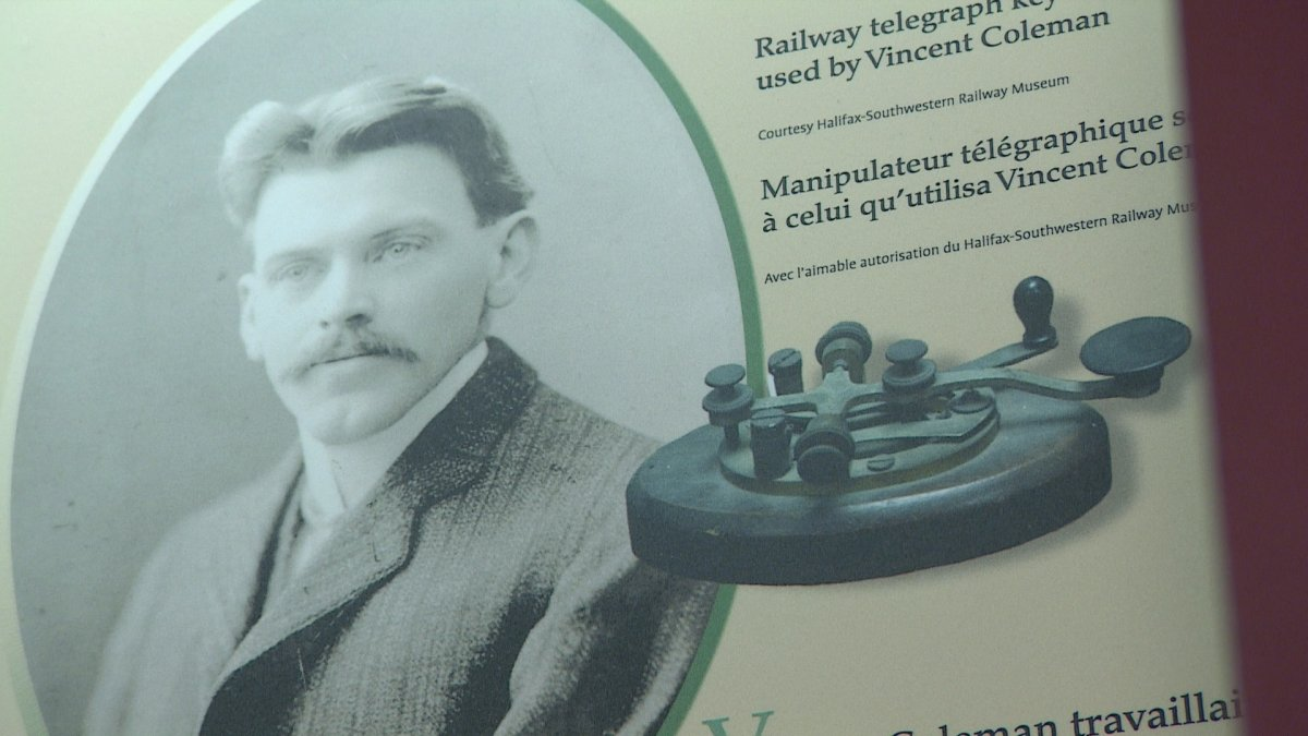 Vince Coleman and his role in the Halifax Explosion is remembered at an exhibit at the Maritime Museum of the Atlantic.
