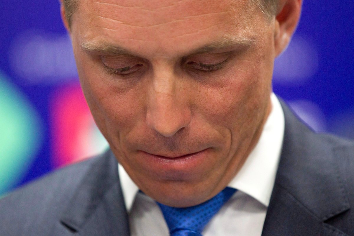 FILE - Ontario PC Leader Patrick Brown stepped down on Thursday, Jan. 25.