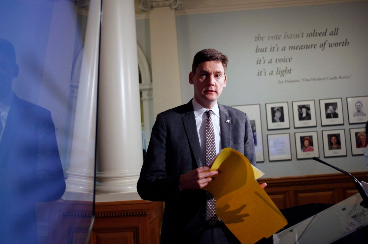 Attorney General David Eby at the Legislature in Victoria, B.C., on Thursday, November 23, 2017.