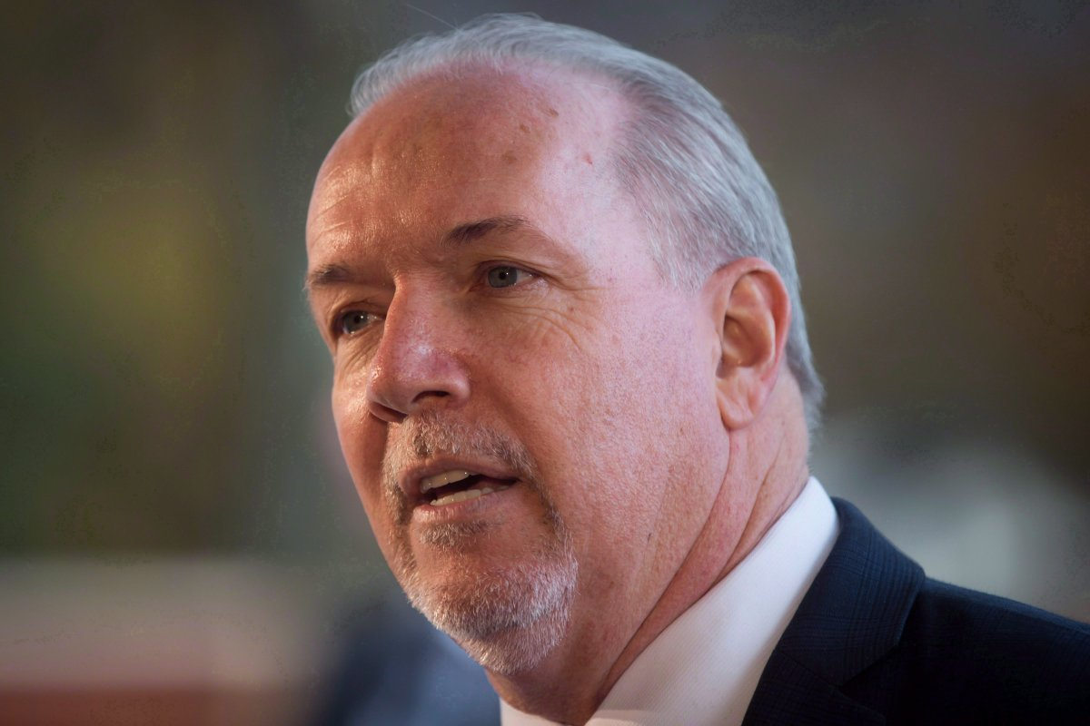 B.C. Premier John Horgan speaks during an announcement at the site where a new mental health and addictions centre will be built, in Coquitlam, B.C., on Friday November 17, 2017.