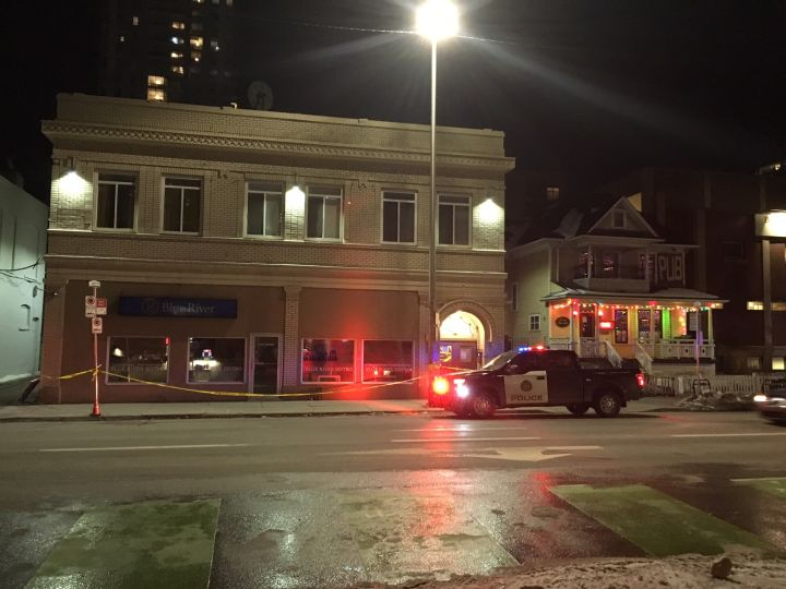 A woman was taken to hospital with non-life-threatening injuries after being stabbed in the 200 block of 12 Avenue S.W., the Calgary Police Service said Monday night.