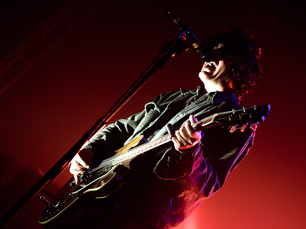 Peter Hayes of Black Rebel Motorcyle Club performs onstage at O2 Academy on March 30, 2013 in Leeds, England.