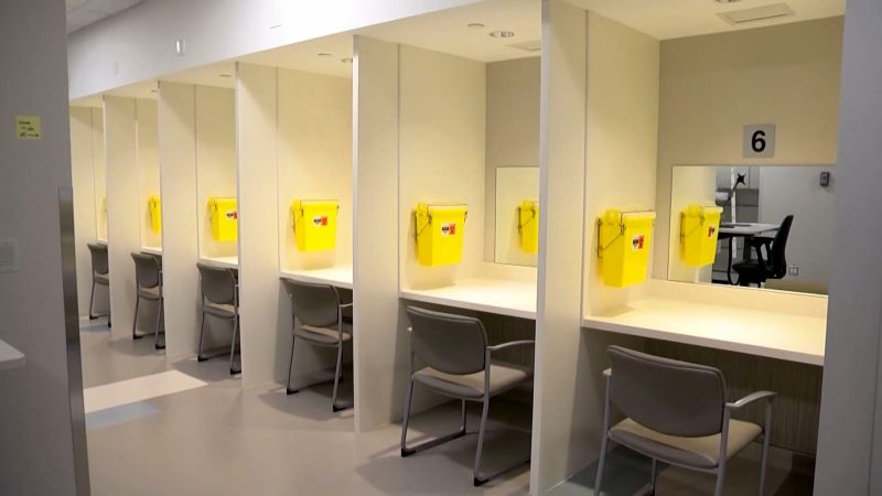 A look inside the supervised consumption site at Calgary's Sheldon M. Chumir Health Centre.