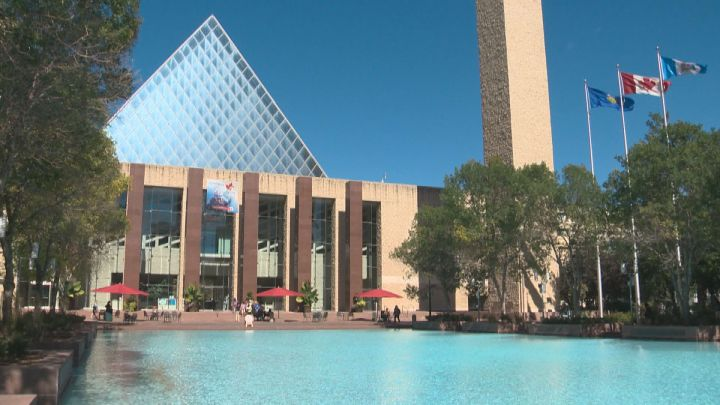 Edmonton City Hall in the summer.