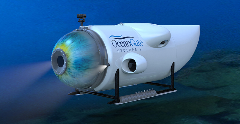 OceanGate finished construction of its deep sea manned submersible, Cyclops 2, last year preparation for this first human exploration of the Titanic shipwreck since 2005.