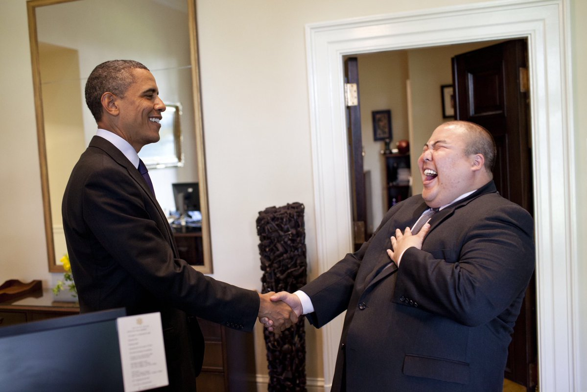 Gary Lee and former president Barack Obama.