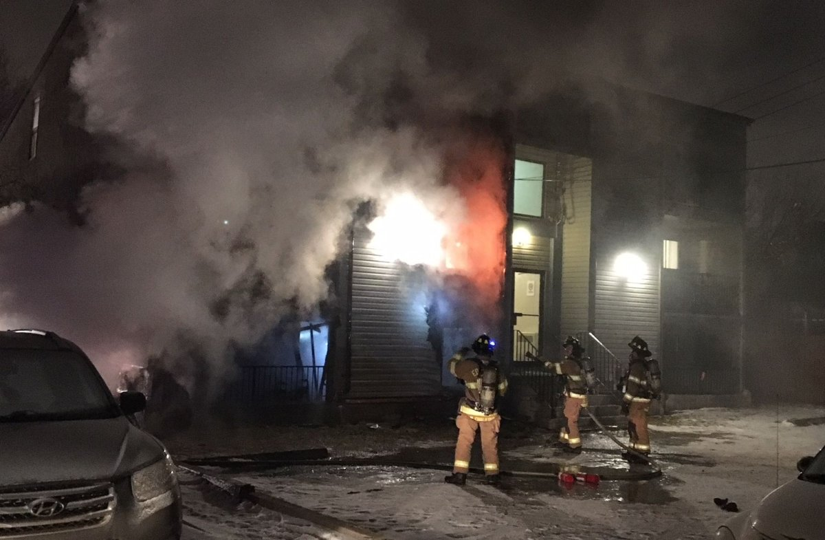 Edmonton Fire Rescue crews were called to an apartment fire at 11824 86 Street in the Eastwood neighbourhood Thursday morning. January 25, 2018.