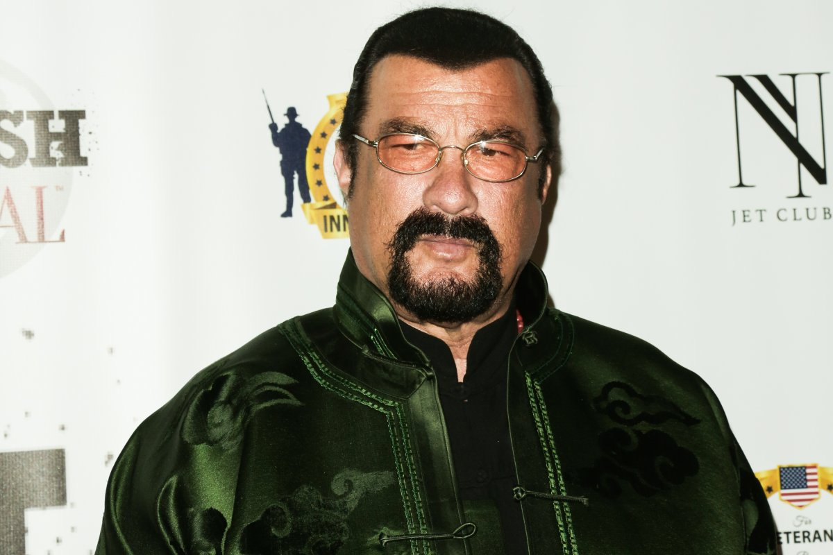 Actor Steven Seagal attends the SMASH Global V pre-Oscar fight at Taglyan Complex on Feb. 23, 2017 in Los Angeles, Calif.