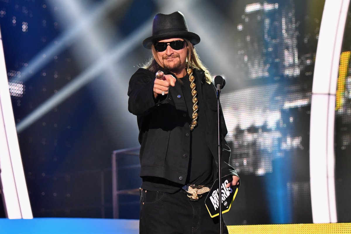 Kid Rock presents an award onstage at the 2017 CMT Music Awards at the Music City Center on June 7, 2017 in Nashville, Tennessee.