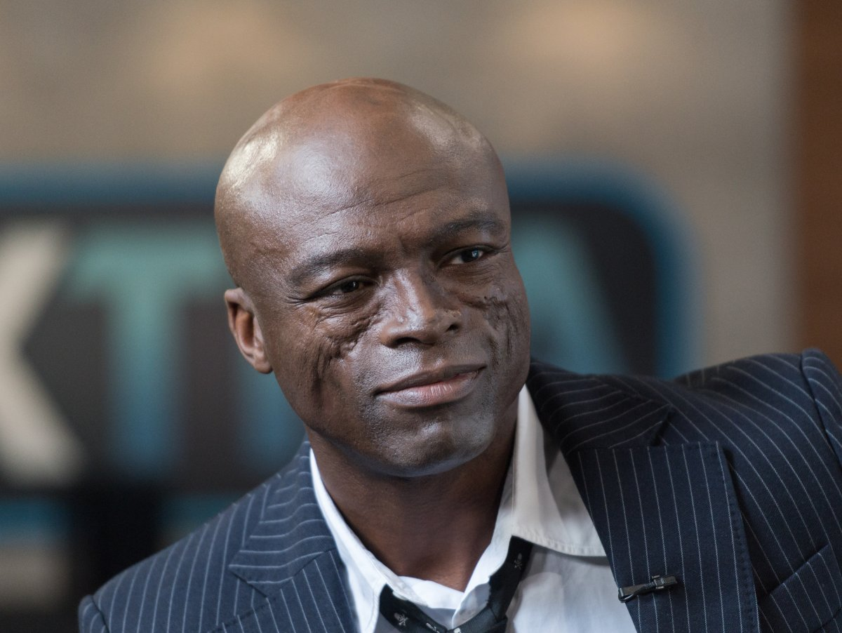 """Seal visits """"Extra"""" at Universal Studios Hollywood on Oct. 18, 2017 in Universal City, California."""