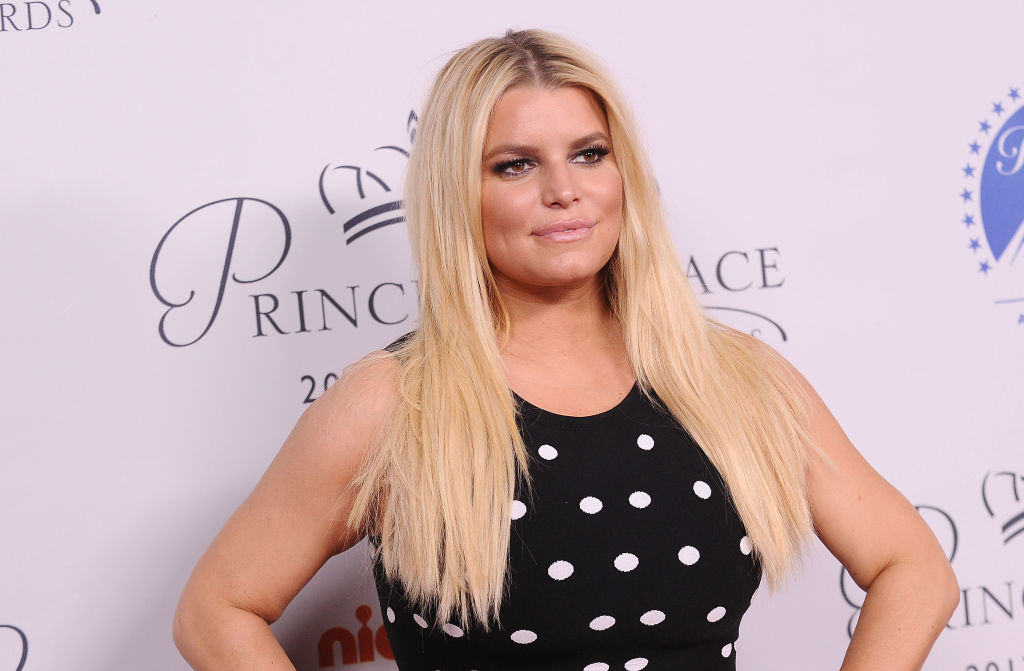 Jessica Simpson attends the 2017 Princess Grace Awards gala kick off event at Paramount Pictures on October 24, 2017 in Los Angeles, California.