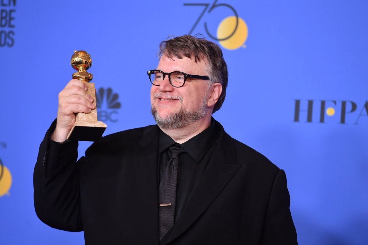 Filmmaker Guillermo del Toro, winner of the award for Best Director (Motion Picture) for 'The Shape of Water,' poses in the press room during The 75th Annual Golden Globe Awards at The Beverly Hilton Hotel on Jan. 7, 2018 in Beverly Hills, California.